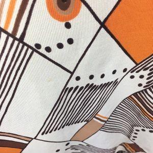 Vintage Dresses - Vintage 70s Mod Geometric Print Dress Fit & Flare
